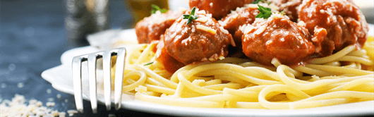 Greek recipe for Meatballs with spaghetti