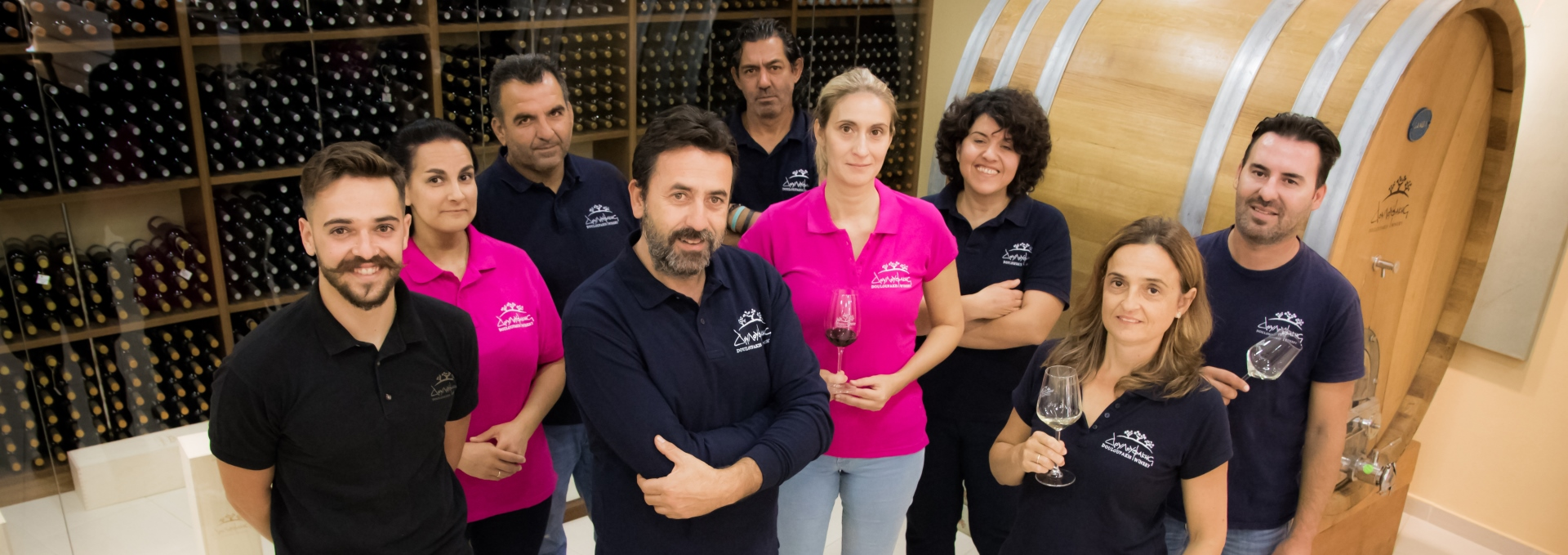 Team of  Douloufakis Winery from Dafnes, Crete, Greece